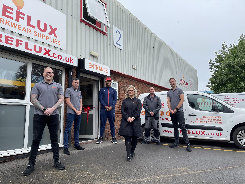 Frazer Clarke Boxer opening Fireflux HQ